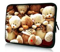 "Teddy Bear 10"" Laptop Tablet PC Sleeve Case Bag Cover For 10.1"" Dell Mini 9 10"