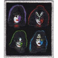 KISS - FOUR HEADS - EMBROIDERED PATCH - BRAND NEW - MUSIC BAND 3843