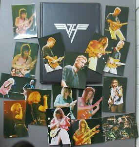 Van Halen photos 16 wallet size photos with black binder LOGO on front