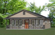28x36 House -- 2 Bedroom 2 Bath -- 1,008 sq ft -- PDF Floor Plan -- Model 1O