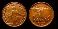 Consejo de Asturias y Leon, 1 peseta, Guerra Civil, Sin Circular, Dificil así