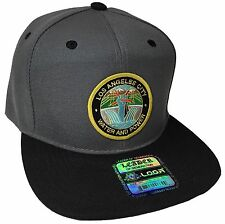 City Of Los Angeles Water And Power Hat Color Gray Black DWP Hat Snapback