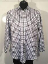 J. Hilburn Custom Mens Size 17.5 32 Dress Shirt Italian Light Weight Cotton 0215