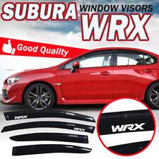 For 2015-2018 Subaru WRX STI Slim Style Window Visor Shade Rain Deflector