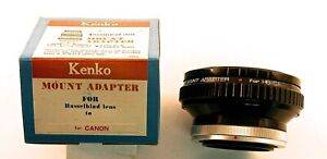 Hasselblad Lens Adaptesr to Canon and Nikon (by Kenko)