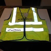 GENUINE HONDA PARTS VEST HI VISS MOTORCYCLE ONLY ACCESSORIE ONE SIZE FITS ALL