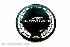 BMW AC Schnitzer Motorsport 3D Lenkrad Emblem Logo Schriftzug Aufkleber 45mm NEU