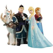 Walt Disney Frozen Movie Main Cast of 5 Ceramic Salt and Pepper Shakers Set NEW