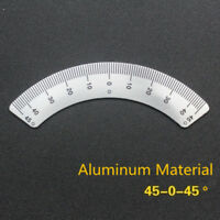 Milling Machine 45-0-45 Scale Ruler Sticking The Mill Arc Scale Angle Ruler