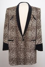 TEDDY BOY DRAPE JACKET IN LEOPARD SKIN 1950s ROCK 'N' ROLL TRADITIONAL TAILOR