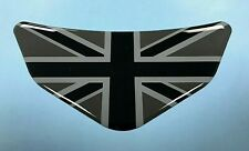 Union Jack Black & 2 Tone Grey Chevron Car - Motorcycle Sticker GLOSS DOMED GEL