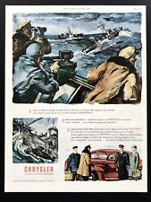 1945 Vintage Print Ad 40's CHRYSLER Sea Battle WWII Ocean Ship War