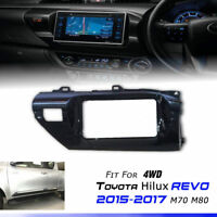 Gloss Black Cover Interior Console Display For Toyota Hilux Revo M70 M80 2015-17