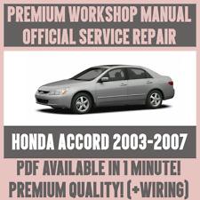 *WORKSHOP MANUAL SERVICE & REPAIR GUIDE for HONDA ACCORD 2003-2007 +WIRING