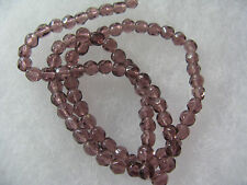 84 Purple Color Glass Beads Craft Jewelry Bead about 4mm Faceted Round