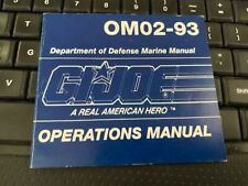 Hasbro gi joe manual 12: OM02- 93  GUNG HO