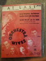 Vintage Sheet Music 1942 At Last Orchestra Wives Cesar Romero (Joker) SHIPS FAST