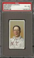 1909-11 T206 Red Ames Portrait Sweet Caporal 150 New York PSA 4 VG - EX