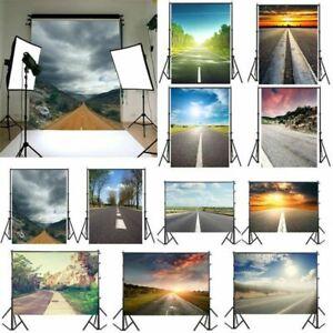 Highway Scene Photography Background Studio Backdrop Photo Props Sunset Road