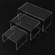 Acrylic Perspex Riser Shelf Nesting Plinths Shop Counter Display Stands small