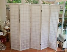 VidaXL Folding 5-Panel Room Divider Japanese Style 200x170cm White Screen