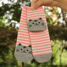 Damen 3D Cartoon Tiere gestreifte Socken Katze Abdrücke Warm Socken Baumwolle