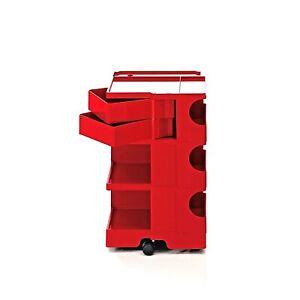 JOE COLOMBO BOBY TROLLEY ORGANIZER B32 RED STORAGE B-LINE made in Italy