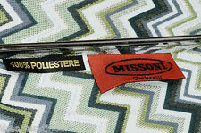 "MISSONI Italy 'Georgia' Zigzag Print Umbrella Green Large Auto-Open 36""x50"" NEW!"