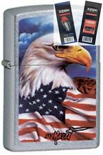 Zippo 24764 mazzi freedom watch Lighter with *FLINT & WICK GIFT SET*