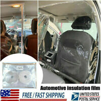 Car Taxi Uber Lyft Film Isolation Partition Transparent Shield Protective Cover