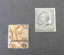 nystamps Italy Eritrea Stamp # 34,37 Used $35   J8x3496