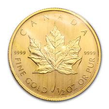 2009 Canada 1/2 oz Gold Maple Leaf BU - SKU #46348