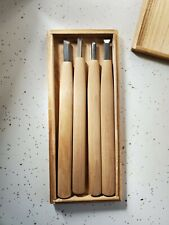 Set Of 4 Antique New Japanese Wood Carving Tools Gouges Chisels Ginji Munechika