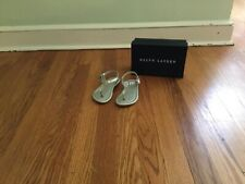 Polo Ralph Lauren Girl's Silver Sandals Toddler Size 8