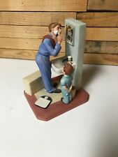 The Norman Rockwell American Family Little Shaver Sculpture 1982