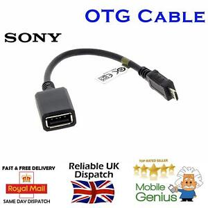 Genuine Sony EC310 Micro USB Host Cable Male to USB Female OTG Adapter Z1 Z2 Tab