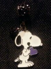 CZ SNOOPY CHARM NECKLACE PENDANT or BRACELET CHARM