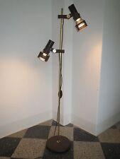 stylische 70er STEHLAMPE Stehleuchte mit 2 SPOTS braun Floorlamp LAMPE Hustadt !