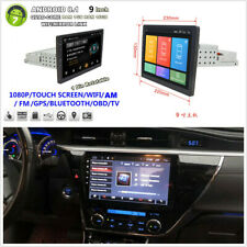 """9"""" Touch Adjustable Screen Android8.1 1DIN Car Stereo Radio GPS Wifi Mirror Link"""