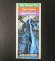 Vtg Zion Bryce Grand Canyon Utah Arizona Color Country brochure Booklet Travel
