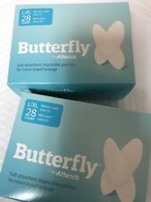Butterfly L/XL Men's Body Liners For Bowel Leaks 28 Count *2 PACK*  New Package