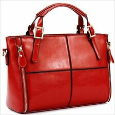 Women's Vintage Genuine Leather Messenger bag Shoulder Handbag Tote bag