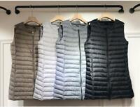 Women Packable Duck down Sleeveless Vest Jacket Puffer Coat Ultralight Waistcoat