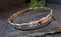 Eleganter 925 Sterling Silber Armreif Mexico Geflochten Optik Look Schlicht Top