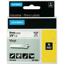 """DYMO 18443 RhinoPro Vinyl Tape 3/8"""" Blk/Wht - Fits RhinoPro 4200, 5000, 5200"""