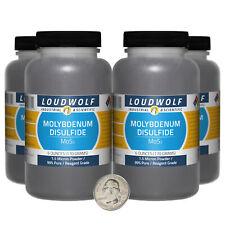 Molybdenum Disulfide / 1.5 Lbs / 4 Bottles / 99% Reagent Grade