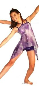 Footprints Dance Costume Asymmetrical Top & Shorts Clearance Child & Adult Sizes