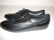 Kay-cee Sporto Black Size 8 Ladies Shoes Flats Lace up Casual Work Comfy