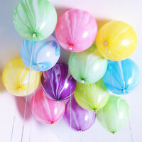 10Pcs Marble Agate 12'' Latex Balloon Party Birthday Celebrate Decro Baby Shows