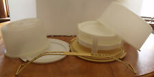 2 Vintage Tupperware Cake Carriers Taker and 2 Stacking Pie Racks